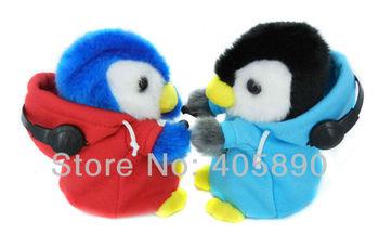 3pcs/lot Lovely DJ Rapper Hot Cute Learning Repeat Speak Penguin Toy Kids Talking Friend Free Shipping