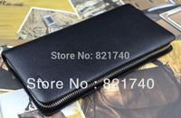 2015 new fashion men clutch bag male handbag cowhide genuine leather wallet large capacity thin wallet  men Purse zipper wallet