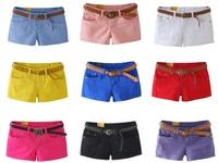 New 2014 Shorts Women Summer Short Pants multi candy colors fashion cute Casual lady girl Women Straight Thin jeans denim Shorts