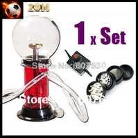 VP500 digital vaporizer kit electrical Vap smoking for Vapor Aromatherapy with glass whip    herb mental Grinder Free shipping