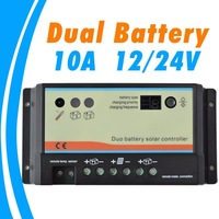 10A daul battery Solar Charge Controller duo-battery charge controller 12V 24V