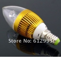 3W E14 Decoration High Power Warm White Light AC 110V-240V LED Candle Spotlight Bulb Lamp 10PCS