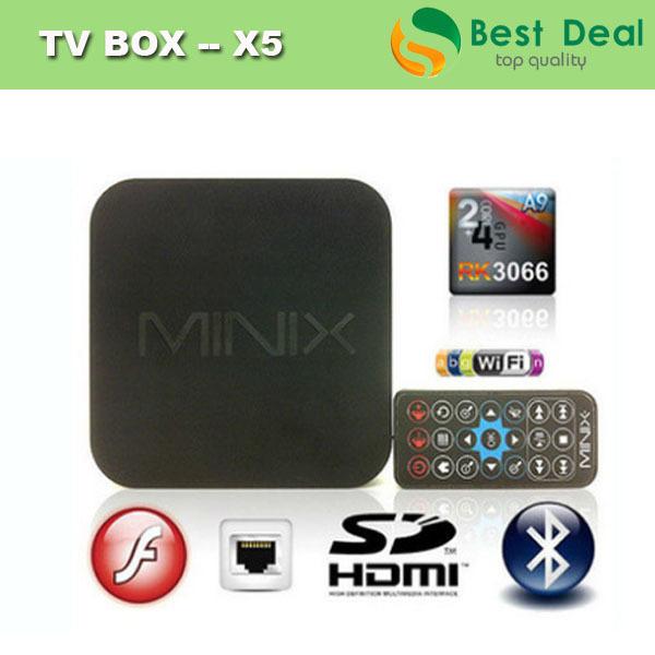 MINIX NEO X5 RK3066 Dual Core Cortex A9 Google Android TV Box Wireless Bluetooth HDMI 1G RAM/16G FLASH Internet Smart TV Box(China (Mainland))