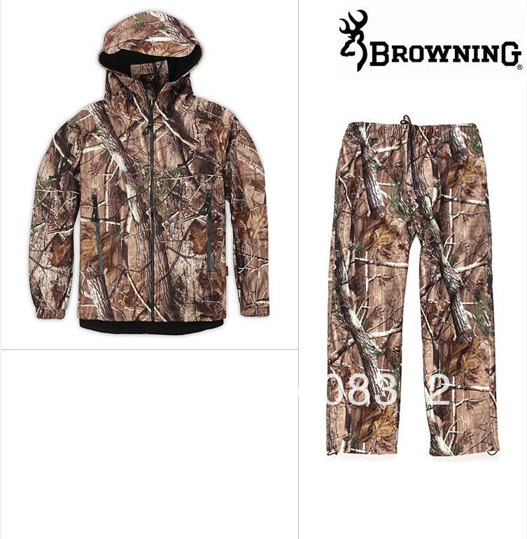 Livraison gratuite, l'arrivée de nouveaux produits! Imperméable à l'eau, la chasse camo veste softshell respirant et pantalon, softshell costume. de chasse