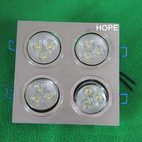 12W LED ceiling lamp   4*3W Grille lighting 12w led ceiling spotlights square AC85-265V