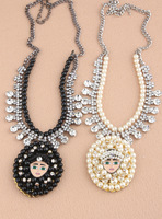N00455 Free Shipping ( necklaces & pendants ) fashion crystal & pearl choker girl statement Necklaces fashion for women jewelry