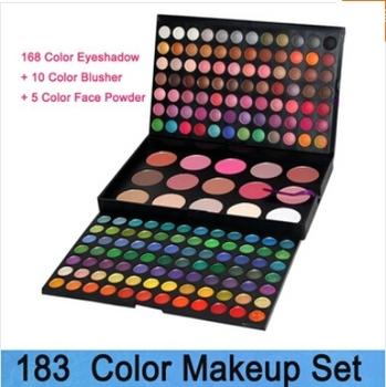 EMS SHIPPING 183 combination make up palette eyeshadow palette168 eye shadow 9 blush 6 trimming cosmetics