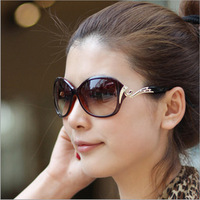 2013 Women's Elegant Sunglasses Fashion Gradient Sunglass Metal Crystal Decoration Glasses For Women Outdoor Goggles Eyewear UV