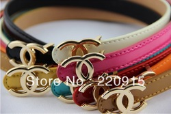 Free Shipping New Women Ladies Candy belt Bottom of nepotism Waist Jewelry Factory Price 9 color sales promotion W002(China (Mainland))