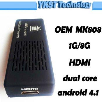 New HTPC MINI PC MK808 Android TV Box Dual Core Cortex A9 RK3066 1.6GHz 1G/8G HDMI WIFI USB OTG Wireless Transmitter TV Receiver