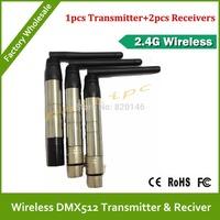 DHL/EMS Free Shipping Hot sale 2.4Ghz ISM DFI WDMX wireless DMX512 transmitter & receiver wireless dmx controller LED DMX