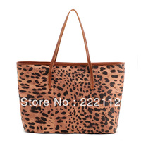 Embossed Leopard Print New 2013 Designers Brand Women Leather Handbags Vintage Totes Handbags Cheap Shoulder Bags High Quality