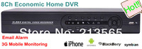 Standalone dvr recorder 8ch H.264 Home Surveillance Video Recorder Security CCTV DVR System/4TB HDD Support
