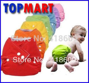 3 Nappy + 6 insert TPU Waterproof reusable Baby Cloth Diapers/nappies One Size fits All free shipping wholesale