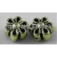 Tibetan Style Beads,  Zinc Alloy,  Lead Free & Cadmium Free,  Antique Bronze Color,  Lovely Flower