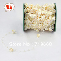 STOCK!!!Free Shipping!30meters IVORY satin rose garland wedding centerpiece flower candle decoration crafting DIY accessory