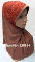 New arabic fashion flower Meryl convenient superior quality muslim hijab,islamic silk scarf,necklace pendant scarf free shipping