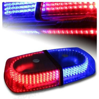 Free Shipping CSPtek(TM) 12v Red/Blue 7-patterns Emergency Warning 240 Car Truck  LED Strobe Warning Light Flashing