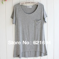 new 2014 women white blank t shirt 100% cotton crop tops homies tee Vestidos  atacado roupas femininasfree shippping #t002