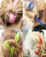 D030 free shipping Cheap unique fashion punk gothic multicolour wig piece multicolor hair braids