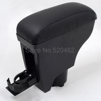 Black arm rest Leather Console Armrest Fit for Toyota Vitz/Yaris 2005-2011