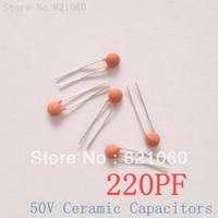 50V 220PF 221 Ceramic Capacitors / 221pf Ceramic Disc Capacitors (1000pcs/lot)