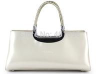 Free shipping, japanned leather vintage women's handbag knitted handle evening bag handbag evening bag bridal bag B14