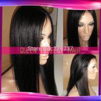 Light Yaki Straight Silk Top Glueless Full Lace Human Hair wigs &Silk Top Front Lace Wig Brazilian Virgin Hair for black women