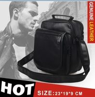 men messenger bags Genuine leather man bag 2015 New Brand Casual Shoulder Genuine Leather Bag Cowhide messenger bags  23*19*9 cm