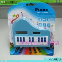 Super promotion 6pcs/lots Piano mini calculator candy color school supplies calculator Lcd display 8-digital multifunctional