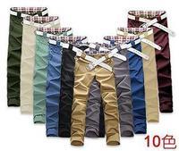 Fashion Mens Stylish Designer Straight Slim Fit Trousers Casual Long Pants ten Size M/L/XL/XXL free shipping