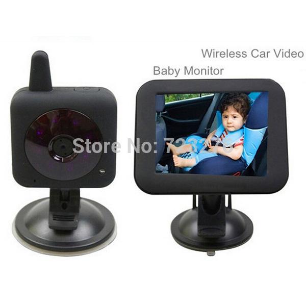 Ücretsiz kargo 2 4g kablosuz araç bebek monitörü kablosuz bebek