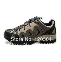 Free shipping!2013TOP new men's outdoor shoes hiking shoes leather waterproof bottom slippery wear-resisting breathable in stock