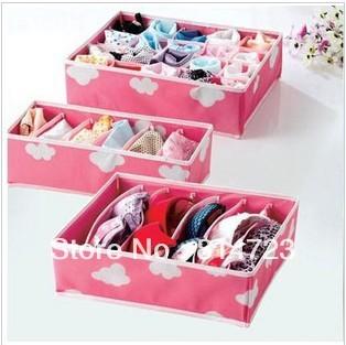Foldable Box Bamboo Charcoal Fibre Storage Box For Bra Underwear Necktie Socks Retail & Wholesale Free Shipping