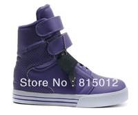 Fashion Hot Society Velcro men Justin Bieber TK OBYO Skateboard Athletic sport Shoes Purple Shoes size:41-46 Free Shipping!