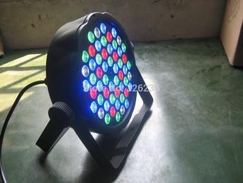 2pcs/lot Slim Flat 18Pcs*3W RGB Led Par Cans DMX Flat Led Par 6Channels Sound Lights 90V-240V Effect Light Par