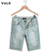 Free Shipping 2013 Fashion Light Blue  Mens Short Jeans, Denim Short, Short Trousers, Size:M-XXL