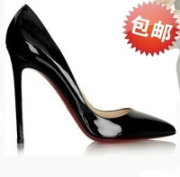 Free shipping ladies single shoes woman 2014 spring new pumps sexy Fashion red bottom high heels wedding shoes women's pumps