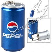 Free Shipping 2GB/4GB/8GB/16GB Novelty Pepsi Pop Can Shape USB Memory Stick Pen Drive,Novelty Metal Can Shaped USB 2.0 Key Drive