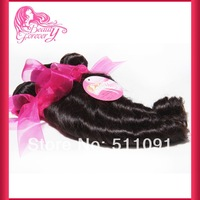 "Queen hair products 16""~26"" mix length unprocessed brazilian hair loose wave wholesale virgin hair weave"