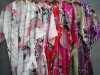 2013 hot sales woman  High quality silk  satin kimono robes,Bathrobes, S M L XL XXL XXXL Free shipping , MOQ 1pc