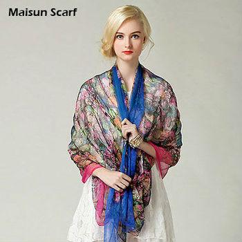 Paj extra long 180*110cm mulberry ladies 100 silk scarf