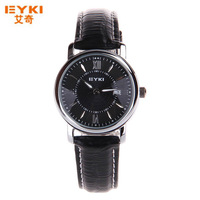 Fashion Dress And Casual Watches Men With Leather Strap EYKI Brand Women Quartz Watch Date Display 3 colors-EET8623G