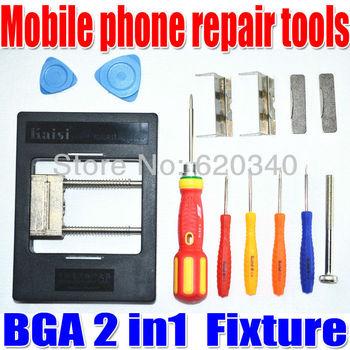 Free Shipping Kaisi KS-1200 2in1 Precision BGA Fixture Mobile phone repair Motherboards clamp BGA special fixture kit