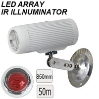 2014 New 3 PCS LED CCTV Surveillance 850nm 2800mW 50M IR Distance visible light camera infrared light illuminator