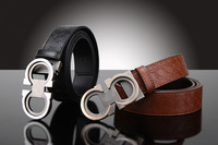 2014 HOT SALE leather belt men black  , 100% Genuine Lher Leather Belts  &men belts genuine leather luxury F0028ao