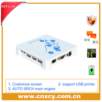 2012 Newest XCY L-14 Network Terminal thin client computer with Win CE6.0 Embedded support Windows Linux