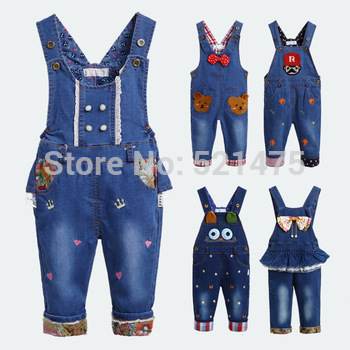 HOT! Spring NEW 2014 Baby Rompers Animal Jeans Overall For Boys Girls Children Outwear Bebe Coveralls Baby Clothes High Quality