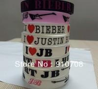 2013 hotest wristband 8 unique design  I love JUSTIN BIEBER fans silicone  bracelet 104pcs/lot  size:202*12*2mm    free shipping