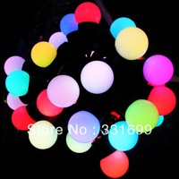 free shipping! TOP QUALITY 7 COLORS CHANGING 50LED 5METER ROUND BALL LED STRING LIGHT,XMAS  PATIO DECOR,CHRISTMAS FAIRY PARTY